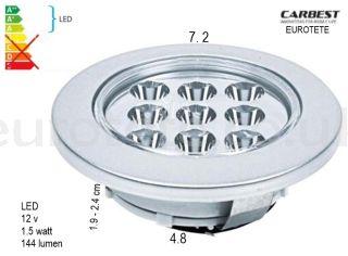 Led ceiling 7.2 cm recessed 12 volt
