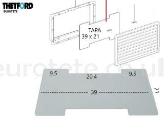 Lid-Thetford-N3141-N3142-winter-257-432-fridge-SR-vent-cover motorhome-fridge-spare part-1