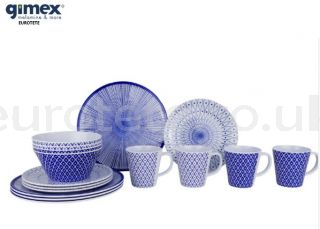 Gimex-917962-galaxy-mix-melamine-tableware-blue-and-white-plate-for-4-people-motorhome-1