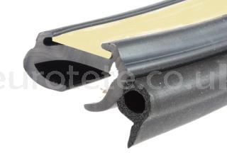 Window rubber 28/32 profile with butyl sealant caravan 1