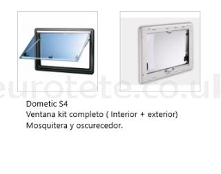 Window 700 x 400 Dometic S4 casement frame + blackout + mosquito net 1
