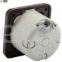 Rotary CBE switch dark brown fan or central lighting motorhome caravan 4