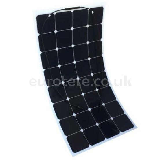 placa solar flecible de 100 watios con regulador 160 watios para autocaravana caravana o camper camperizacion 1