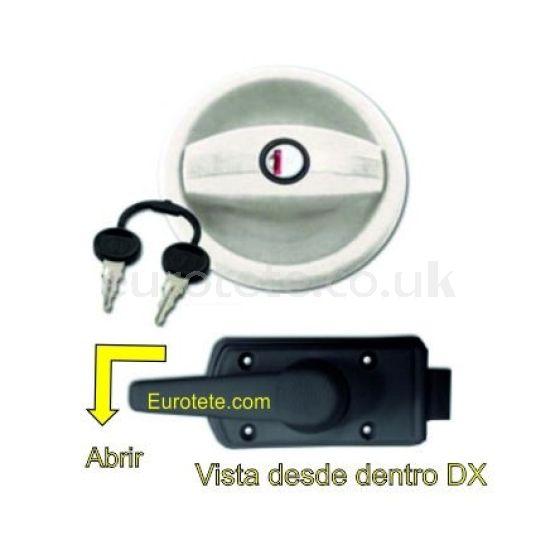 Cerradura Zadi circular con mordaza interna y llaves 1