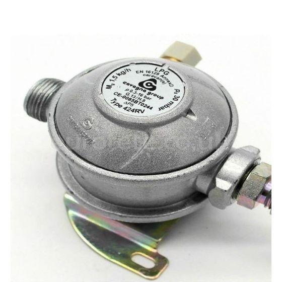Regulador gas 30 mbar EN 16129 de 0.3 - 16 bar para autocaravana o furgoneta camper
