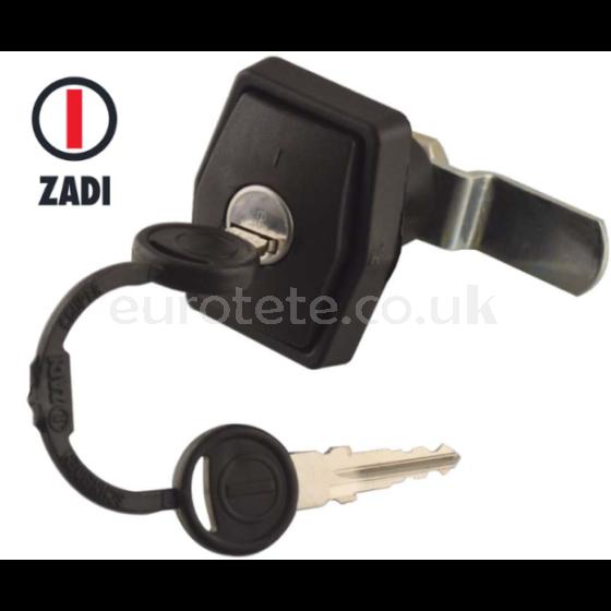 Push lock standard black gate 2 keys zadi motorhome caravan door 1